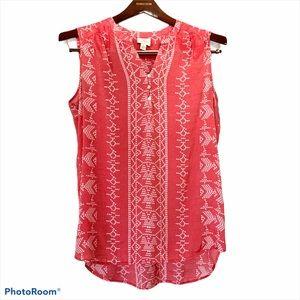 4/$25 St. John's Bay Boho Red White Sleeveless XL